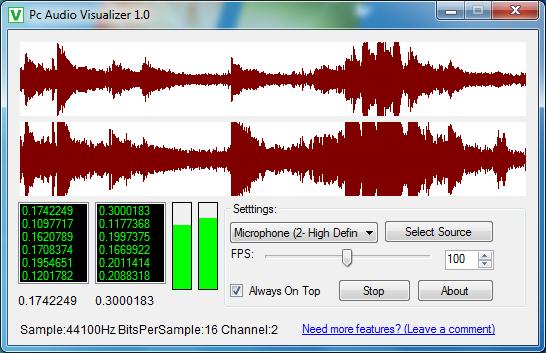 Pc Audio Visualizer