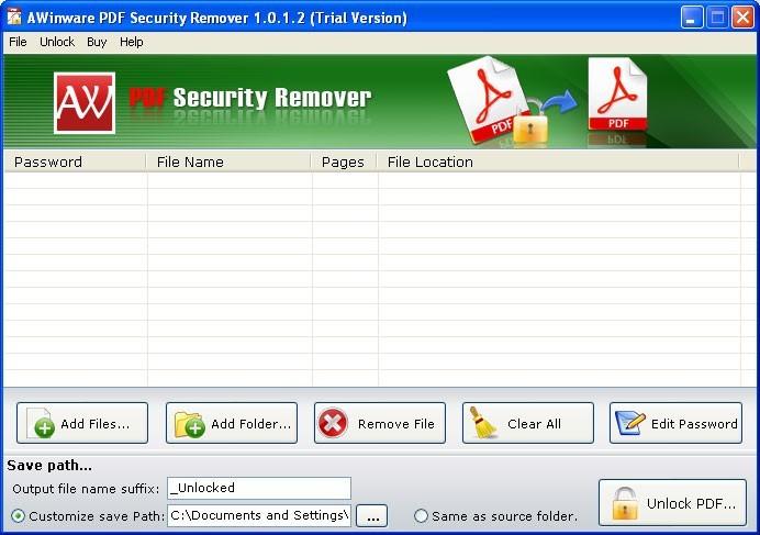 Pdf Owner Security Unlocker