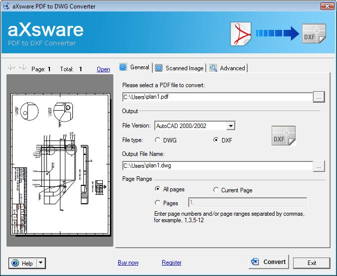 PDF to DXF Converter 3