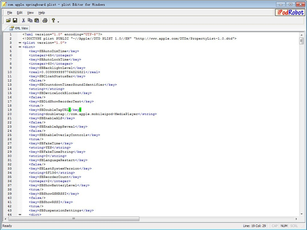 plist Editor for Windows