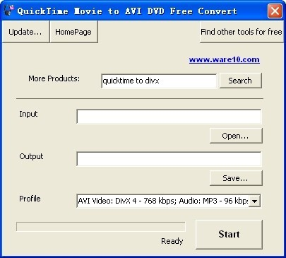 QuickTime Movie to AVI DVD Free Convert