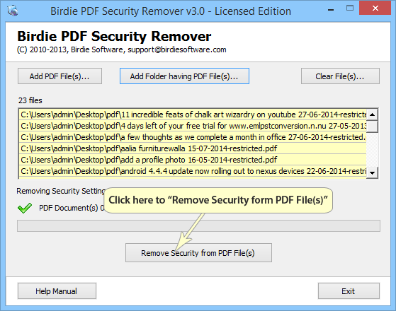 Remove Security from PDF