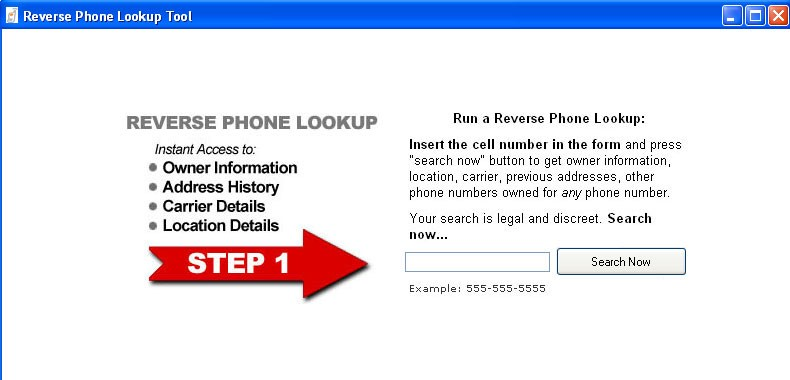 Reverse cell phone number directory 1.0