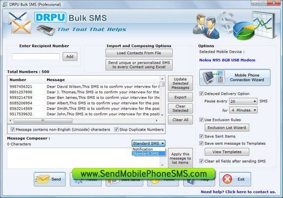 SMS Application Software
