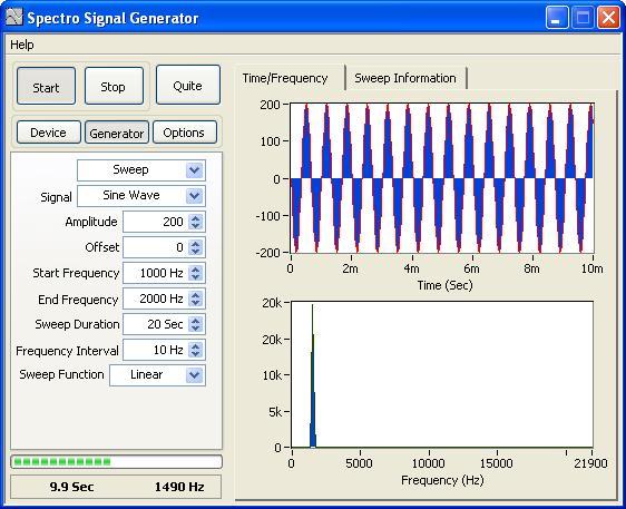 Spectro Signal Generator