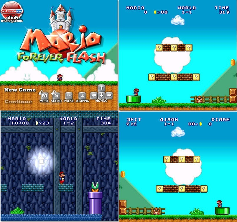 Super Mario Bros Forever - Flash