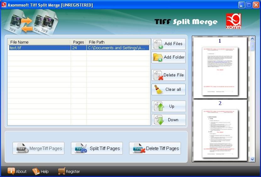 Tiff Split Merger