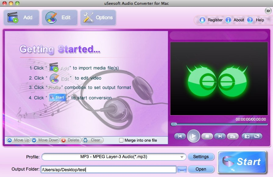 uSeesoft Audio Converter for Mac