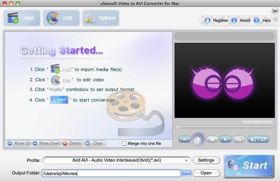uSeesoft Video to AVI Converter for Mac