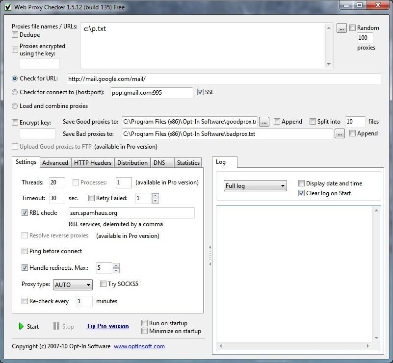 Web Proxy Checker