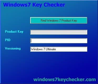 Windows 7 Key checker