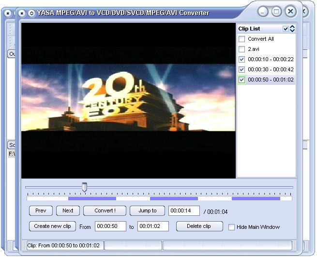 YASA MPEG/AVI to VCD DVD SVCD MPEG AVI Converter