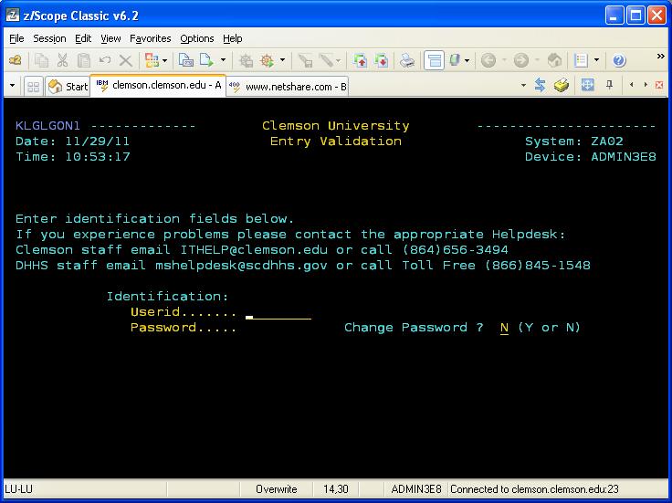 z/Scope Classic Terminal Emulator