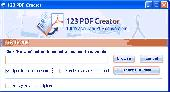 Screenshot of 123PDF Creator