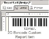 2D Barcode Custom Report Item Screenshot