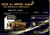 Screenshot of 4Videosoft DVD to MPEG Suite