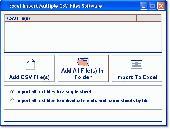 Excel Import Multiple CSV Files Software Screenshot