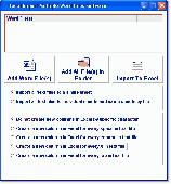 Screenshot of Excel Import Multiple Word Files Software