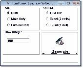Random Name Generator Software Screenshot