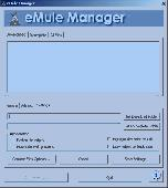 Screenshot of eMule Manager