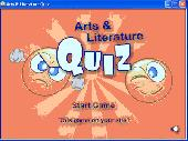 Arts and Literature Quiz Screenshot