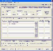 Alergy Testing Software Screenshot