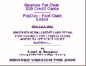 Credit Cards - Sources for over 200 credit cards and PayDay Loans Screenshot
