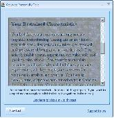 Personality type test Screenshot