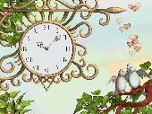 7art Eternal Love Clock screensaver Screenshot