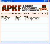 Screenshot of APKF Adobe Product Key Finder