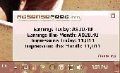 Adsense Earning System tray Tracker Screenshot