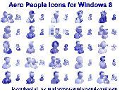Screenshot of Aero People Icons for Windows 8
