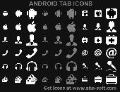 Screenshot of Android Tab Icons