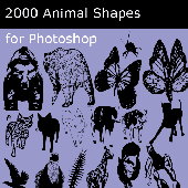 Screenshot of Animal custom shapes collection