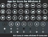 App Bar Icons for Windows 8 Screenshot