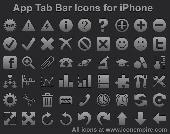 Screenshot of App Tab Bar Icons for iPhone