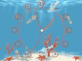 Aquarium Clock ScreenSaver Screenshot