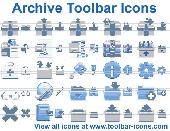 Archive Toolbar Icons Screenshot