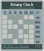 Binary Clock Screenshot