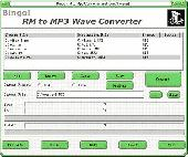 Screenshot of Bingo! RM to MP3 Wave Converter