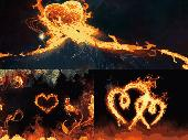Burning Hearts Animated Wallpaper Screenshot