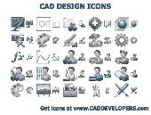 CAD Design Icons Screenshot