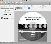Screenshot of Disketch CD/DVD Label Maker for Mac