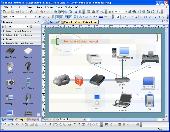 Screenshot of Edraw Network Diagrammer