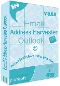 Email Address Harvester Outlook Screenshot