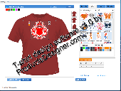 Screenshot of Flash TShirt Design Software