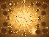 Fractal Sun Clock ScreenSaver Screenshot