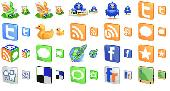 Screenshot of Free 3D Social Icons
