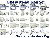 Glossy Menu Icon Set Screenshot