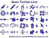 Green Toolbar Icons Screenshot